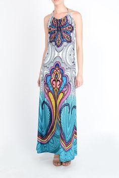 Watercolor Paisley Ruched Halter Neck Maxi Dress - D8189-OU #eCommerce #ShopOnline #SmallBusiness #SmallBiz #LosAngeles #DTLA #MadeInLA #MadeInUSA #CaliforniaStyle #fashion #style #trend #trendy #OnTrend #chic #PaisleyPrint #Boho #FestivalStyle #StreetStyle