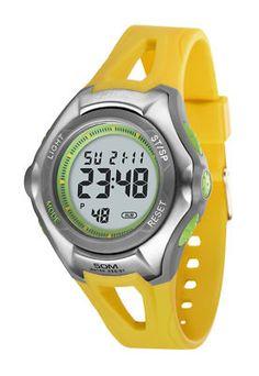 Orologio multifunzione Dunlop mod. Agile colore giallo
