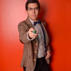 Doctor? Who? #DoctorWho with @landonbarton #sonicscrewdriver #bbc #halloween #costume