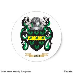 Eich Coat of Arms Classic Round Sticker