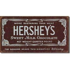 Tin Sign : Hershey's Bar - 540824