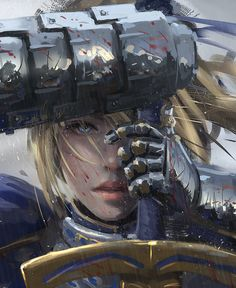 Saber by wlop (detail). Spectacular portrait. Congrats to the artist!