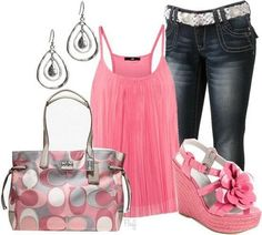 Outfit PINKIE. Fin de semana rosado para despedir el verano... mas ideas para ti http://www.imagen-vipp.com/