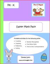 PreK Easter Math Pack from pre-kpages.com