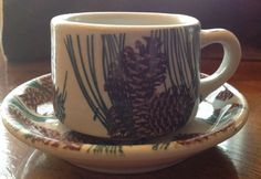 TEPCO CHINA PINE CONE PATTERN CUP & SAUCER   |  SOLD $17 eBay 2-8-15
