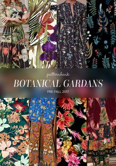 The Patternbank Team have been analysing the latest Pre-Fall 2017 collections and have put together the strongest print trends alongside designs from the Patternbank Online Textile Design Studio that