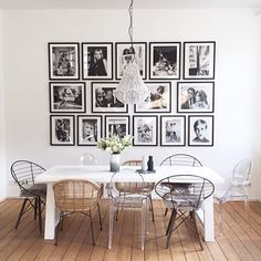 Fashion gallery wall please! #yes #gallerywall #blackwhite #fashionphotography : @norsuinteriors