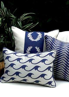 Karen Robertson   Royalty Collection   Outdoor Pillows   Beach Pillows   Coastal Pillows   Coastal Home Pillows