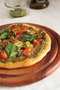 Cherry on a Cake: A PESTO PIZZA WITH JAMIE OLIVER'S PIZZA DOUGH