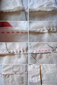 Hand-sewing 101. I hate hand sewing, I always try to figure out creative ways to use my sewing machine instead, but it doesn't look as good. This will be a great reference for me!