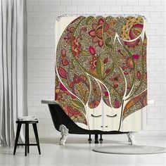 Valentina Ramos - Dreaming flowers, Shower Curtain, 180x180