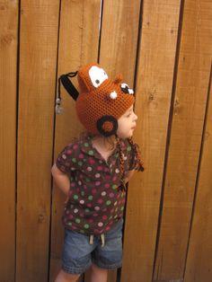 Rusty Tow Truck Hat - Crochet Tow Truck Hat - Crochet Cars Hat - Kids Winter Hat - Crochet Winter Hat - Crochet Hat - Halloween Hat