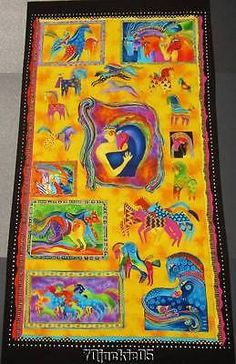 1-MYTHICAL-HORSES-Bright-Ponies-PANEL-2006-Laurel-Burch-Cotton-Fabric