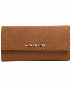 MICHAEL Michael Kors Jet Set Travel Checkbook Wallet - Handbags & Accessories - Macy's
