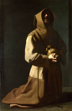 Saint-François en méditation, Francisco de Zurbarán, XVIIe siècle.