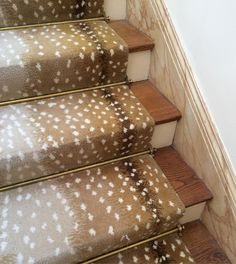 Animal Print Carpet . . This Stair Runner Installed In The Late 1980s,  Still Looks