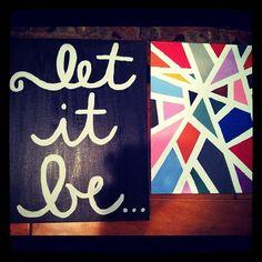 Canvas ideas, Let it be. <3