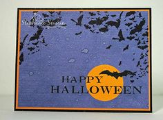 Halloween Card by Stephanie Severin using Free Sentiment Download Halloween 1, Halloween Quotes, Halloween Cards, Paper Crafts Magazine, I Card, Card Making, Words, Artist, Prints