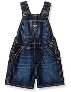 OshKosh B'gosh Boys' Shortall Denim, Toddler: Core short all union wash Oshkosh Bgosh, Overall Shorts, Boy Fashion, Latest Fashion Trends, Boy Outfits, Overalls, Denim, Boys, Stuff To Buy