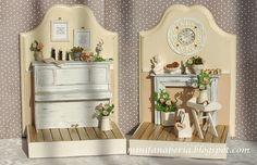 Miniaturowy Świat Lady Fanaberii: Do pary - bookend z pianinem