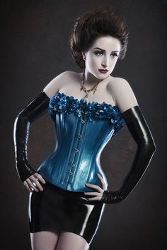 ☺ Blue Corset | Locked in Lace
