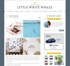 Blog Inspiration - Little White Whale - nice header