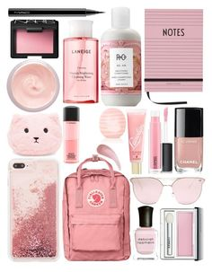 """Rosé all day"" by savannahcatt on Polyvore featuring Fjällräven, Deborah Lippmann, Clinique, Forever 21, Chanel, MAC Cosmetics, Design Letters, Lano, By Terry and R+Co"