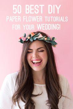 best-paper-flower-tutorials-for-your-wedding-paper-spring-floral-crown-bespoke-bride-wedding-blog