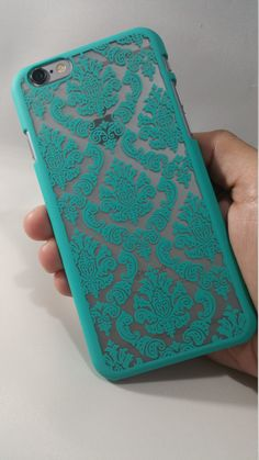 Featuring our mint green damask case from our vintage collection - Elegant & Stylish - Light Weight Case - Easy access to all ports & buttons - Compatible with all service provider - High quality plas