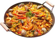 Paella de marisco,recept voor paella met zeevruchten. Alle paella ingrediënten alsook paellapannen en gasbranders bestel je bij Shopandalucia.nl