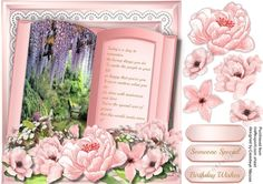 Beautiful Pink birthday Book with Verse | Craftsuprint
