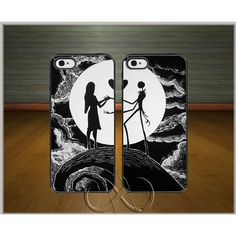 jack and sally case, Nightmare Before Christmas phone case,... ($13) � liked on Polyvore featuring accessories, tech accessories, phone cases, apple iphone cases, slim iphone case, water proof iphone case, iphone hard case and iphone cases