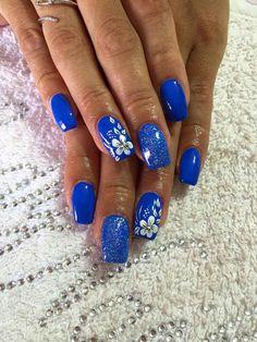 Blu fiori glitter