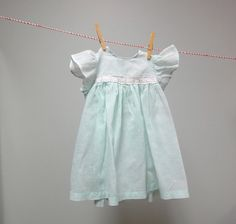 Vintage 1950s Little Baby Girls Dress Seafoam by StelmaDesigns, $29.00