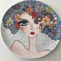 Just for the art of it Pottery Painting, Ceramic Painting, Stone Painting, Ceramic Art, Glass Painting Patterns, Baby Painting, Plate Art, Encaustic Art, China Painting