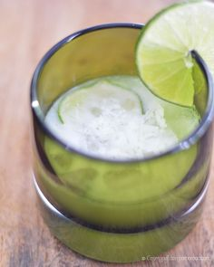 Lime in the Coconut Caipirinha  - a Brazilian inspired cocktail from Cosmopolitan Cornbread