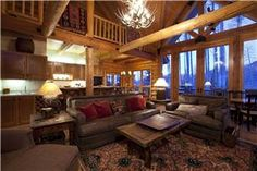 Telluride Resort Lodging Collection: 102 Snowdrift Lane Home Telluride Resort, Telluride Lodging, Telluride Colorado, Open Space Living, Living Area, Living Spaces, Small Sleeper Sofa, Small Sofa, Skiers