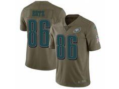Men s Nike Philadelphia Eagles  86 Zach Ertz Limited Olive 2017 Salute to Service  NFL Jersey dc21a9e68