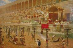 La matanza de los cristianos en el circo romano - MISTÉRICA