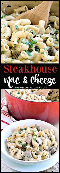Take all of those steakhouse flavors you love, and put them into a quick and easy to make mac and cheese. The result is a weeknight meal the whole family will love! From www.bobbiskozykitchen.com