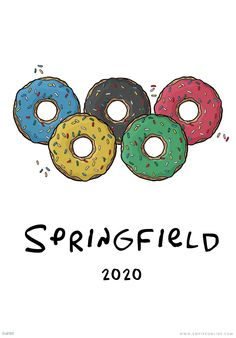 Springfield 2020 The Simpsons Movie Cities' Olympic Promo Posters | Features | Empire