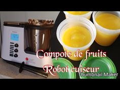 Compote de fruits au robot monsieur cuisine plus - YouTube Thermomix Desserts, Flan, Drip Coffee Maker, Bon Appetit, Keto, Make It Yourself, Cooking, Recipes, Friday