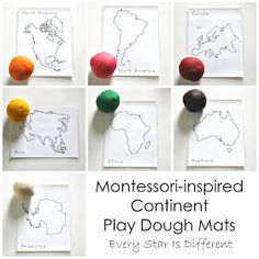 Montessori-inspired Continent Activities with Free Printables Best Picture For Montessori Activities 18 months For Your Taste You are looking for something, and it is going to tell you exactly what yo Continents Activities, Multicultural Activities, Geography Activities, Geography For Kids, Les Continents, Pre K Activities, Montessori Classroom, Montessori Materials, Montessori Activities