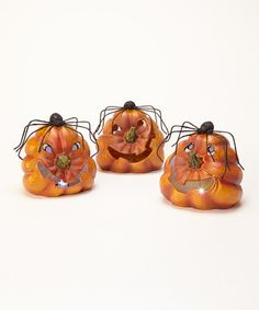 Take a look at this LED Pumpkin Figurine Set by Transpac Imports on #zulily today!