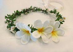 Hawaiian Sweet Leilani Flower Crown Plumeria by HairDoodleDo