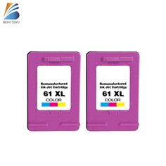 2PK 61XL Ink Cartridge Color ENVY 4500 4501 4502 4504 5530 5531 for HP 61 Ink #BOSUMON