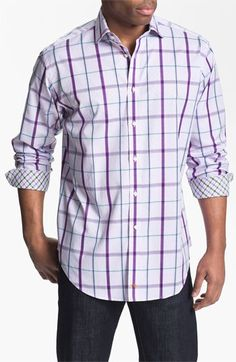 Thomas Dean Regular Fit Sport Shirt available at Nordstrom