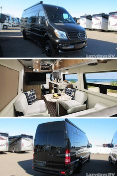 The Airstream Interstate Grand Tour is a sleek that offers the ability to go virtually anywhere the open road can take you. Stop by RV and see everything this model has to Class B Motorhomes, Motorhomes For Sale, Airstream Motorhome, Airstream Interstate, Travel Trailers For Sale, Used Rvs, Rv Accessories, Grand Tour, Rv Life
