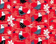 jenn_pp_peridecio_exotic_op.jpg by Jenn Ski Cute Pattern, Pattern Design, Textile Patterns, Textiles, Pretty Patterns, Pattern Drawing, Stuffed Animal Patterns, Floral Fabric, Digital Illustration