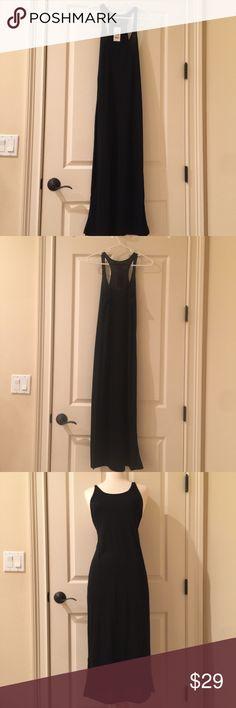 Black tank dress Blank tank dress size small. New with tags. Macy's Dresses Maxi